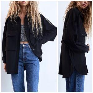 NEW Zara Oversized Pocket Shacket/Shirt Jacket XS